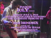JIMI HENDRIX AAM 4TH JULY WEEKEND