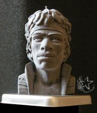 Jimi Hendrix sculpture/candles